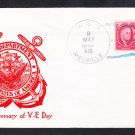 Destroyer Tender USS MELVILLE AD-2 WWII VE DAY 1st Anniversary Naval Cover