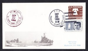 Tank Landing Ship USS TRAVERSE COUNTY LST-1160 Naval Cover MhCachets 1 MADE