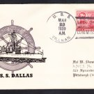 Destroyer USS DALLAS DD-199 DECOMMISSIONING 1939 Naval Cover