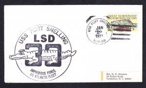 Amphibious Dock Landing Ship USS FORT SNELLING LSD-30 Naval Cover