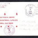 Assault Ship USS MOUNTRAIL APA-213 Last Day Postal Service Naval Cover