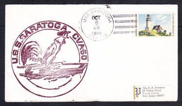 Aircraft Carrier USS SARATOGA CVA-60 1970 Naval Cover