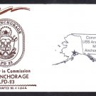Amphibious Transport Dock USS ANCHORAGE LPD-23 COMMISSIONING Decatur Chapter Naval Cover