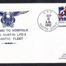 Amphibious Transport Dock USS AUSTIN LPD-4 Welcome to Norfolk VA Naval Cover