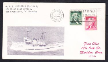 Tugboat USS CAHOKIA ATA-186 San Francisco CA Naval Cover MhCachets 1 Made