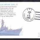 Guided Missile Destroyer USS COCHRANE DDG-21 Naval Cover MhCachets 1 MADE