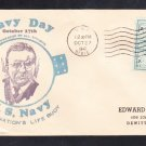 Destroyer Tender USS DIXIE AD-14 Navy Day Naval Cover ONLY 1 MADE