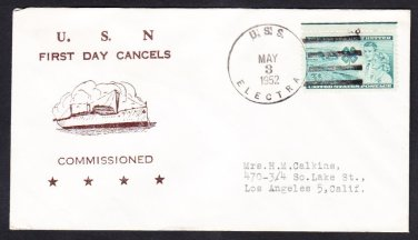 Attack Cargo Ship USS ELECTRA AKA-4 COMMISSIONING Korean War Naval Cover