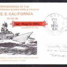 Nuclear Powered Cruiser USS CALIFORNIA CGN-36 Commissioning Naval Cover