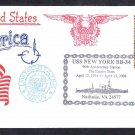 Battleship USS NEW YORK BB-34 90th Anniversary Naval Cover