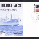 Ammunition Ship USS KILAUEA AE-26 COMMISSIONING Naval Cover