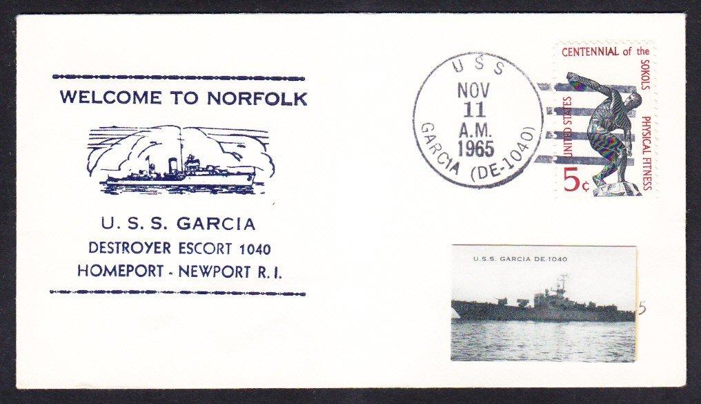Destroyer Escort USS GARCIA DE-1040 Newport RI to Norfolk VA Naval Cover