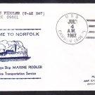 MSTS Attack Cargo Ship USNS MARINE FIDDLER T-AK 267 Norfolk VA Naval Cover