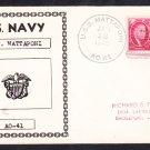 Fleet Oiler USS MATTAPONI AO-41 1948 Naval Cover