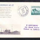 Fleet Oiler USS MERRIMACK AO-37 1947 Naval Cover ONLY 1 MADE