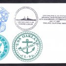 Cruiser USS OAKLAND CL-95 60th Anniversary of Commissioning Naval Cover