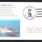 Amphibious Transport Dock Ship USS OGDEN LPD-5 Naval Cover MhCachets 1 MADE