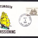 Nuclear Powered Submarine USS PORTSMOUTH SSN-707 COMMISSIONING Naval Cover