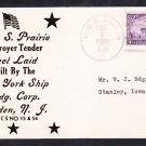 Destroyer Tender USS PRAIRIE AD-15 Keel Laying 1938 Naval Cover