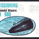 Submarine USS L. MENDEL RIVERS SSN-686 COMMISSIONING Naval Cover
