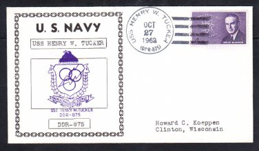 Destroyer USS HENRY W. TUCKER DDR-875 Naval Cover