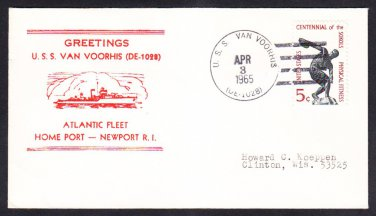 Destroyer Escort USS VAN VOORHIS DE-1028 Atlantic Fleet Norfolk VA Naval Cover
