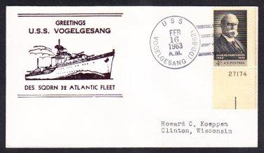 Destroyer USS VOGELGESANG DD-862 DESRON 32 Atlantic Norfolk VA Naval Cover