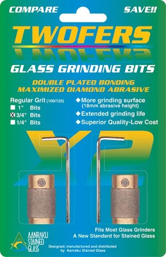 """Aanraku® 3/4"""" TWOFERS 2 bit set - 220 fine grit"""