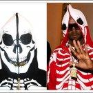 Red LRG Dead Serious Hoodie - (Mesh Eyes, Glow in the Dark Skeleton, Full Zip-Back)