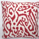 Red Animal Print Accent Pillow