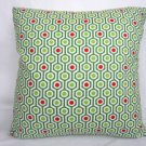 Green Mod Print Accent Pillow