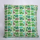 Green Elephant Accent Pillow