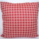 Red Clover Print Accent Pillow
