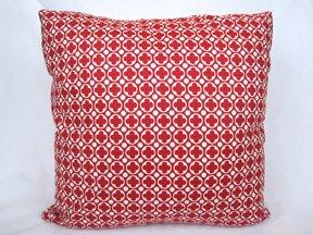 Red Clover Print Accent Pillow