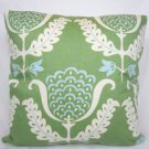 Green Brocade Accent Pillow
