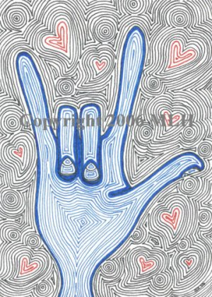 Sign of Love (aceo print)