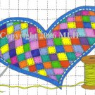 Quilted Heart (aceo print)