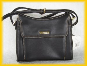 Liz Claiborne Accessories Purse - Black Get Organized Purse Unused W/$48 Tag - FREE Shipping