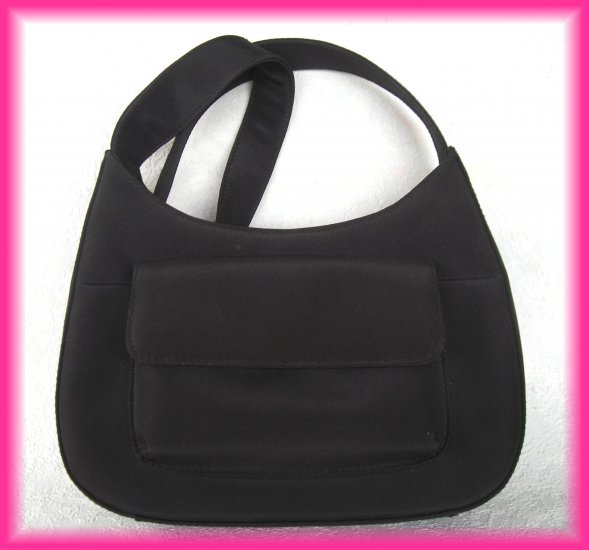 Coldwater Creek Small Black Hobo Style Handbag Purse - Looks Unused - FREE Shipping