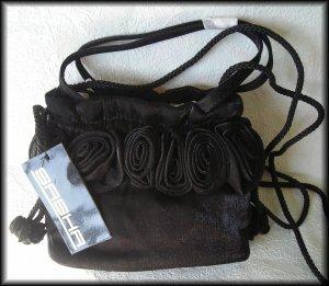 Sasha New York Black Satin Evening Bag - FREE Shipping