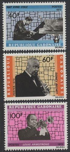 France Gabon SC#295-297 of 1972, Famous Musicians, Mint, VF