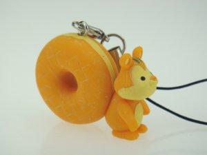 Japan Mister Donut Shop Squirrel Figure Phone Charm Strap