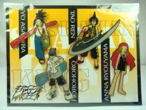 JUMP FESTA 2001 Shaman King Figure PINS SET Badge