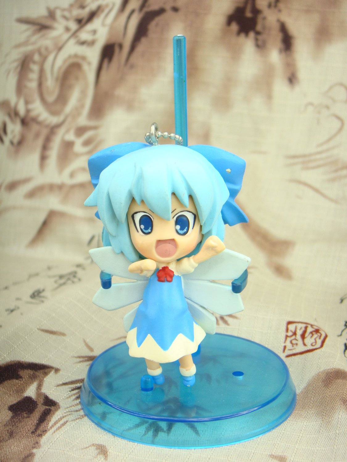 Japanese Pink Company Touhou Project Vol.1 Cirno Eyes Open Figure Phone Charm Strap Keychain