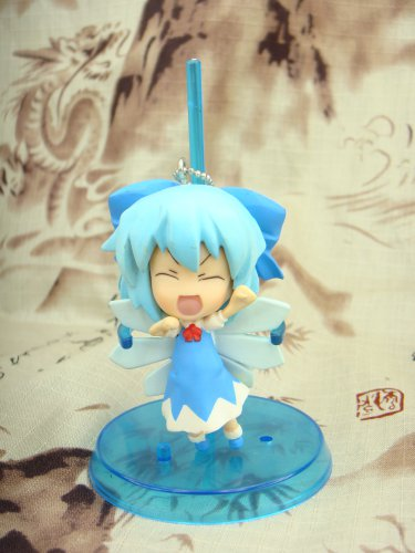 Japanese Pink Company Touhou Project Vol.1 Cirno Eyes Closed Figure Phone Charm Strap Keychain