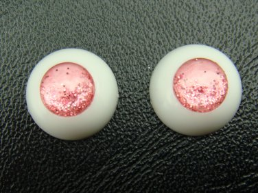 BJD Doll  No Pupil Acrylic Eyes 14 mm / 8 mm Size Pink