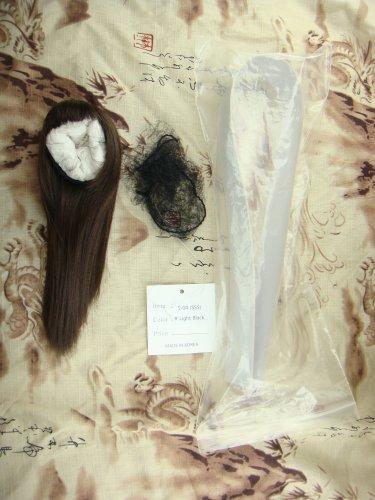Sugarble Doll long straight cut - light black (sugarsleek R) 6 inch Wig BJD Doll