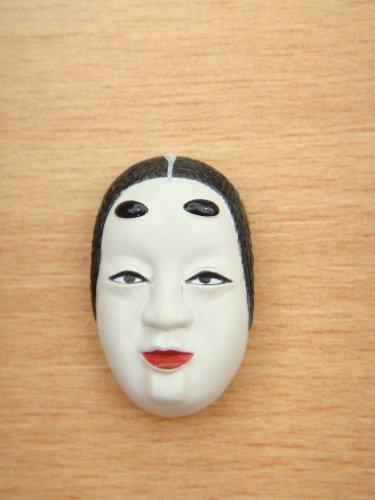 Japanese Mini Noh Mask Kabuki Kagura Traditional Woman Mask Model Figure