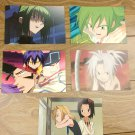 Japanese Anime Jump Shaman King Card x5 pages L010