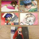 Japanese Anime Jump Shaman King Card x5 pages M007
